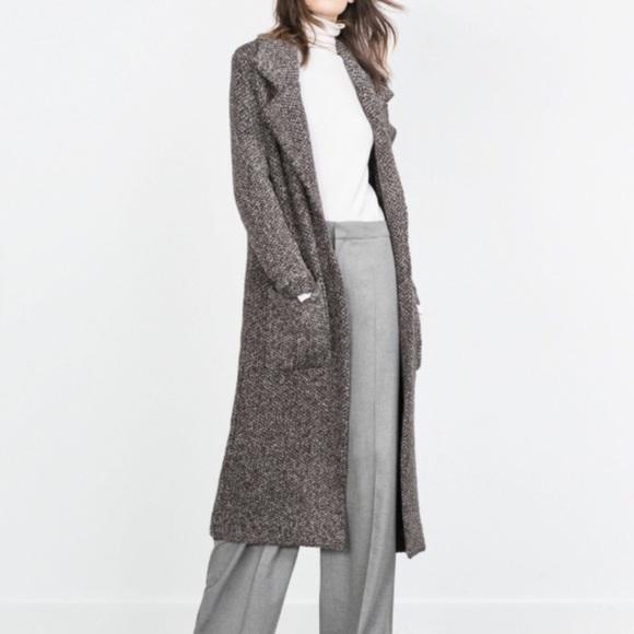 a2b2bfe3 Zara Jackets & Coats | Long Oversized Chunky Knit Coat | Poshmark